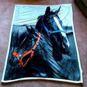Sherpa Photoreal Velvet Plush Throw Blanket